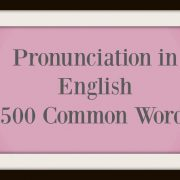 500 Common Words