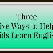 Kids Learn English